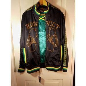 NWT Akon Konvict track jacket Jamaica bling